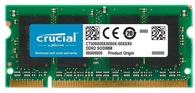 RAM Crucial 2GB DDR2 PC6400 - CT25664AC800