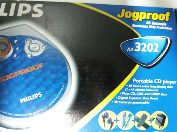 leitor cds philips ax3202 portatil