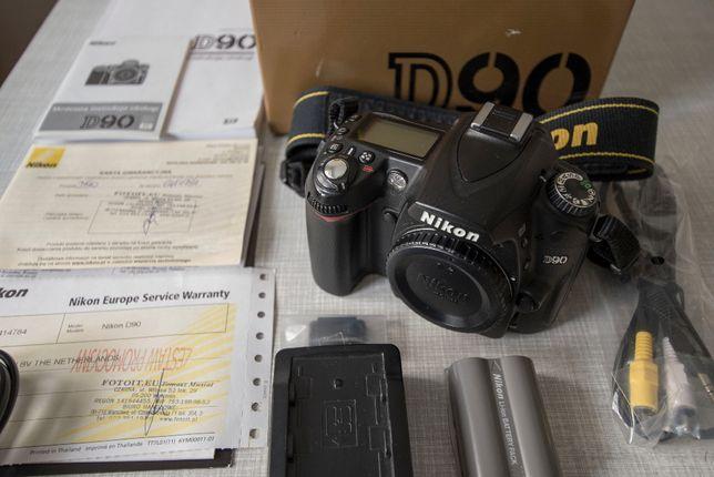 Nikon D90 body, przebieg: 21 323 zdjęć, stan idealny