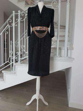 Sukienka czarna midi rozm 40