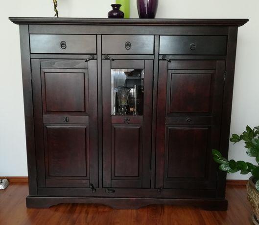 Meble drewniane brzoza komoda, witryna, barek, szafka TV, stół, zestaw
