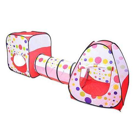 Детская Палатка с тоннелем, игровая палатка для детей, домик