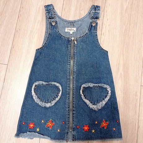 Сарафан джинсовый 110 размер, состояние нового