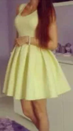 Cytrynowa sukienka Mani festo
