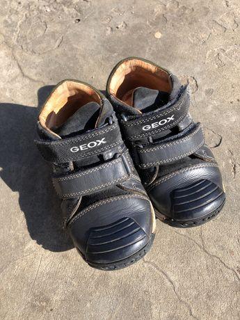 Кожанные ботинки туфли geox 24 р. 15 см