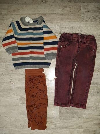 Zestaw sweterek nowy H&m spodnie next reserved