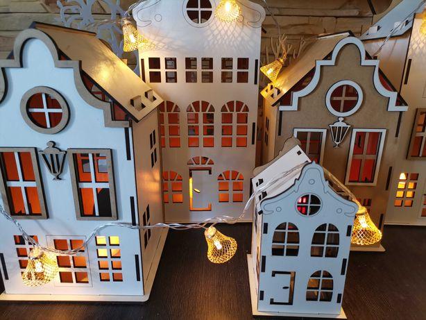 Домики объёмные, домик светильник. Домик с надписью