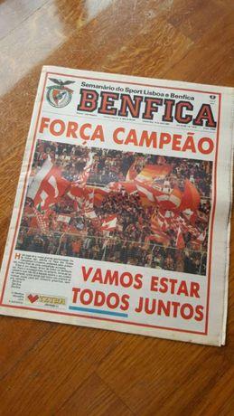 Jornal O Benfica (antes do jogo com o Marselha - Vata)