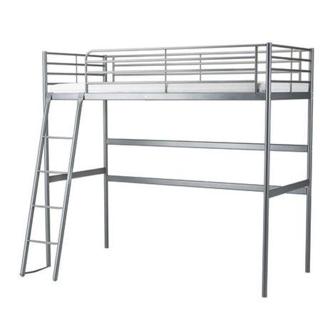 Łóżko piętrowe, rama łóżka na antresoli  SVÄRTA Ikea