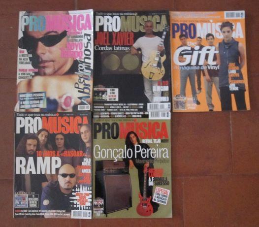 Revistas ProMúsica anos 90, 2000 e 2001