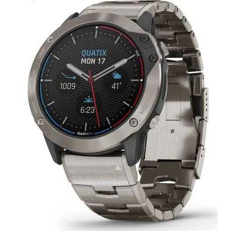Смарт часы Garmin Quatix 6x Solar Gray with a titanium strap