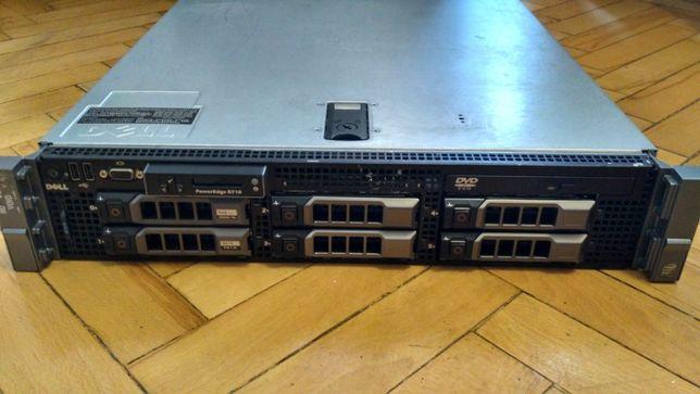 Продается сервер Dell PowerEdge R710 с дисками и креплением