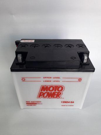 Akumulator do kosiarki traktorka 12N24-3A Moto Power 12V 24Ah 200A