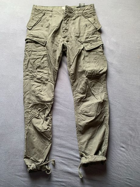 spodnie bojówki hm zielone ściągacz rozmiar 30