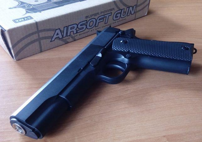 Мощный детский пистолет из металла на пульках Colt M1911A1 ZM 19