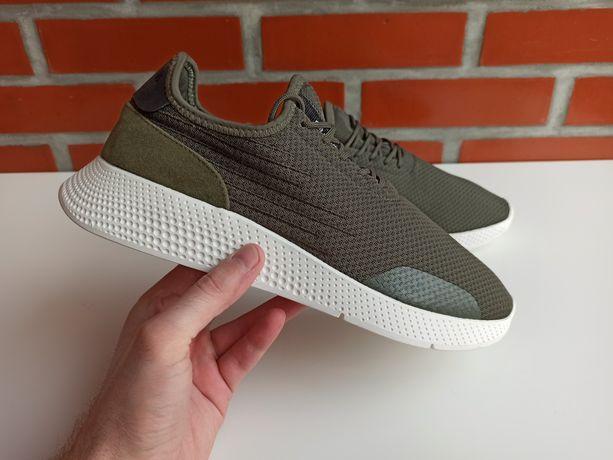 Pull & Bear зеленые мужские кроссовки сетка размер 43, 44 пулл беар