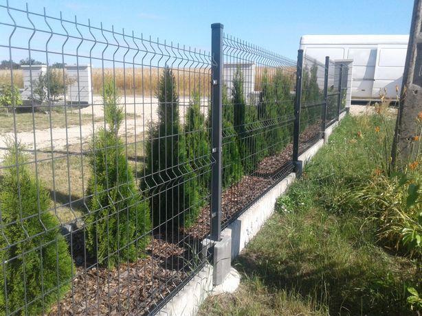 Panele ogrodzeniowe 153cm fi5 siatka ogrodzeniowa