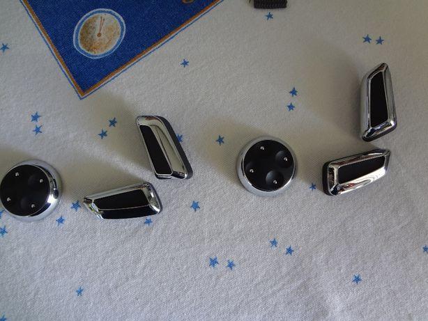 botões bancos audi A3, A4, A5 e Q5, A6 e A7com aplicação metal