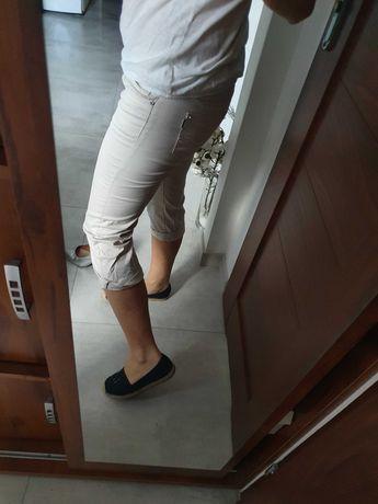 Spodnie 3/4 materiałowe rozm 38