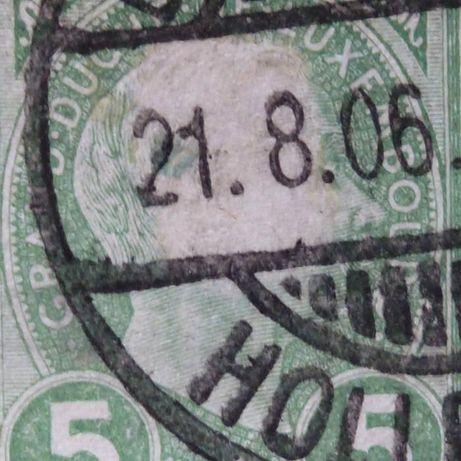 Znaczek - Luxembourg 1895 r. Mi 70 z rzadkim błędem.