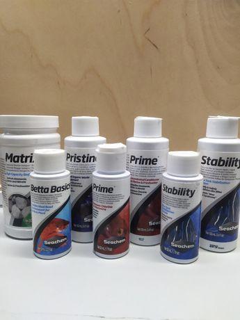 Seachem- Prime, Pristine, Stability, Matrix, Betta Basics