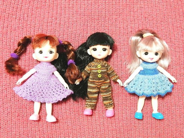 Одежда платье комбинезон для кукол 15 см Баболи Babolie
