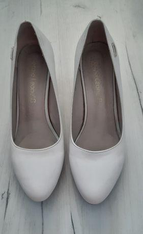 Kremowe buty roz.39 ślubne