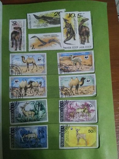 Продам почтовые марки - животные