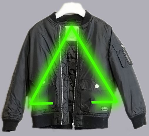 Bomberka Zara 116 czarna kurtka przejściowa