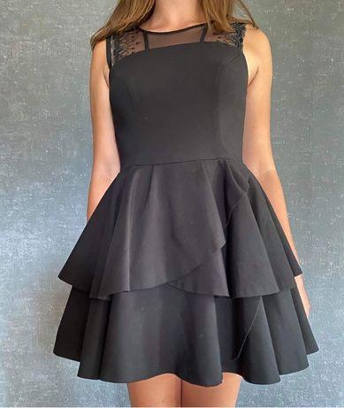 Sukienka czarna, imprezowa, elegancka