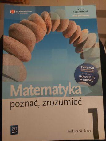 """,,Matematyka poznać, zrozumieć"""" Podręcznik 1 i ćwiczenia cz. 1 i 2!"""
