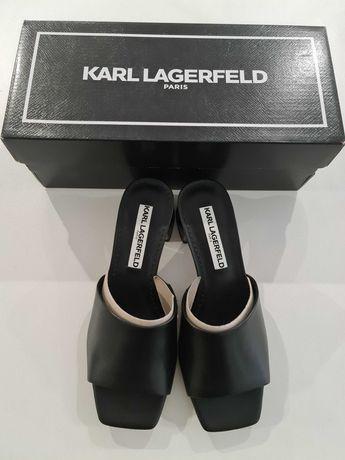 Skórzane klapki Karl Lagerfeld