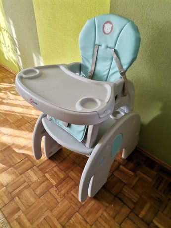 Fotelik do karmienia 2w1 lionelo stolik i krzesło