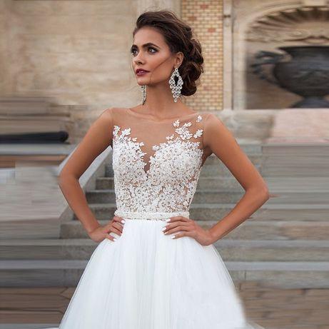 suknia ślubna sukienka linia-A cywilny 36 S, 38 M, 40 L, 42 XL, 44 XXL