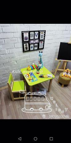 Детский столик и стульчик, комплект столик и стульчик, стол и стул