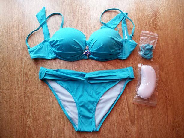 Nowy strój kąpielowy w kolorze niebieskim rozm. 40