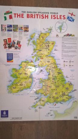 """Карта Великобританії. (дитяча)) Видавництво """"Longmen""""."""