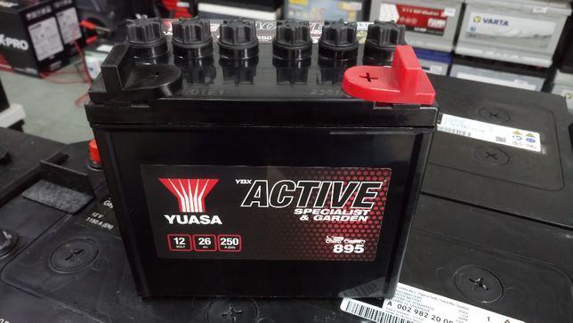 Akumulator kosiarka 12V 26AH 250A Yuasa Garden Active 895 896 Wysyłka