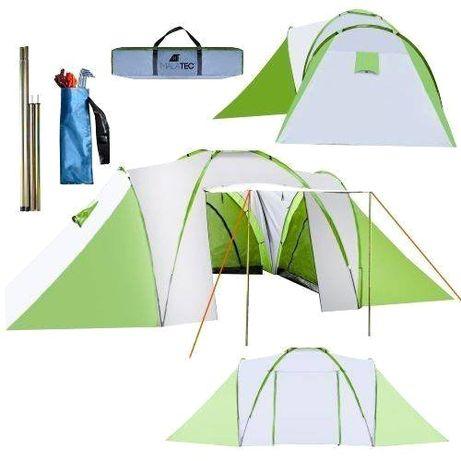 Duży Namiot turystyczny dla 6 osób namiot rodzinny 3-komorowy