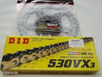 Kit Transmissao com corrente DID VX3 X-Ring Suzuki GSX 750 F de 1989 a 1998