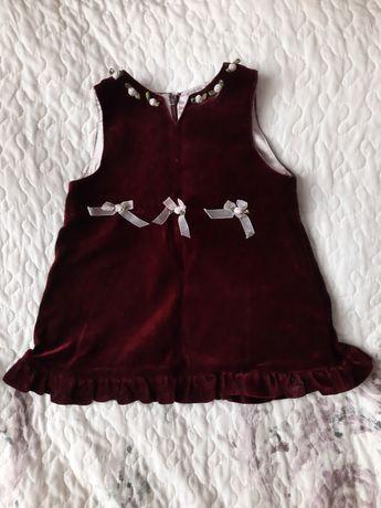 Śliczna burgundowa sukienka Kappahl