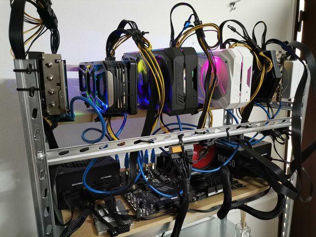 RIG mineração - 6 x NVIDIA RTX 3070