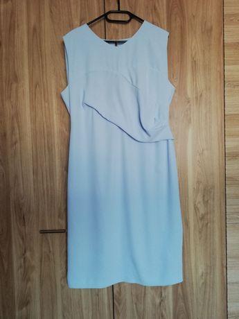 Błękitna sukienka rozmiar 44