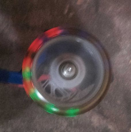Kółka do hulajnogi  świecące, czarne 12cm