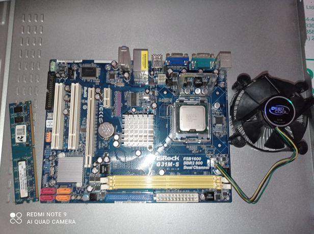 Комплект Intel Celeron Dual-Core E1500 + ASROCK G31M-S