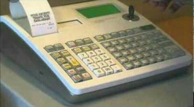 Registadora Casio s 2000 com fatura simplificada