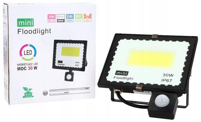 NAŚWIETLACZ Halogen LAMPA LED 30W Z Czujnikem ruchu