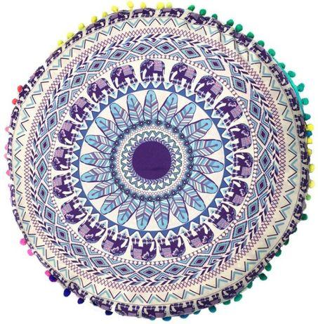Poduszka siedzisko kolorowa Pufa medytacja joga MANDALA zen etno boho