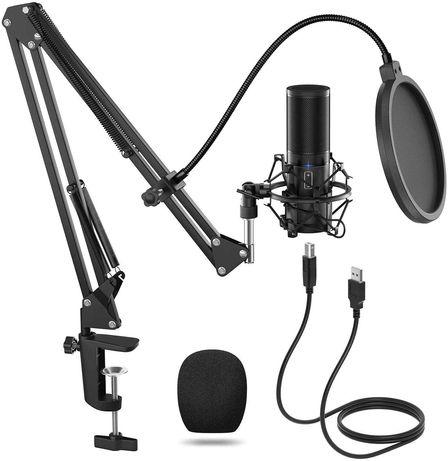 Microfone Estúdio Tonor Q9 USb Novo Tripé de Chão
