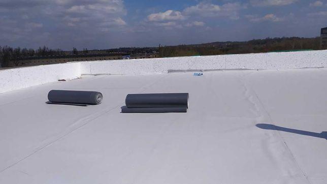 Dachy płaskie , membrany dachowe PCV, EPDM